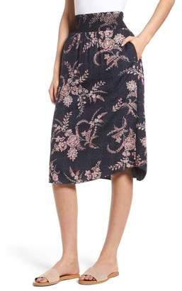 Hinge Smock Waist Midi Skirt
