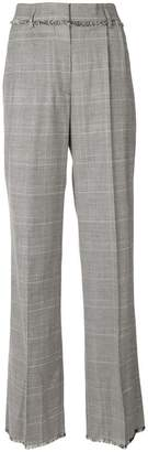 MSGM plaid flared tailored trousers