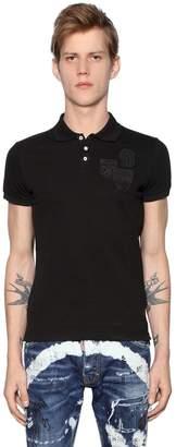 DSQUARED2 Cotton Piqué Polo Shirt W/ Patches