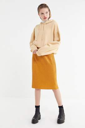 Urban Outfitters Sparkly Ribbed Midi Skirt