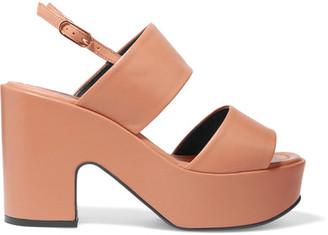 Robert Clergerie - Emple Leather Platform Sandals - Tan $595 thestylecure.com