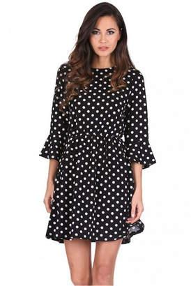 AX Paris Polka Dot Long Sleeve Skater Dress