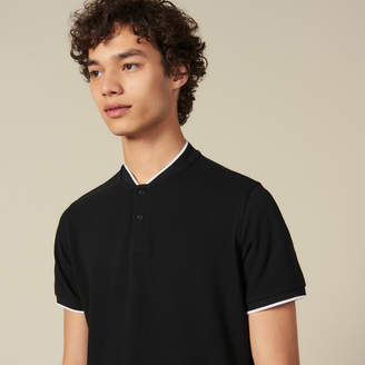 Sandro Polo Shirt With Contrasting Collar