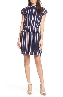 Charles Henry Smocked Stripe Dress