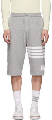 Thom Browne Grey 4-Bar Classic Sweat Shorts
