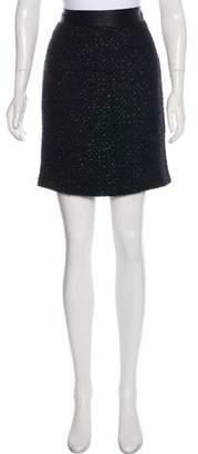 Milly Knee-Length Wool Skirt
