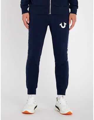 True Religion Camouflage-panel cotton-jersey jogging bottoms