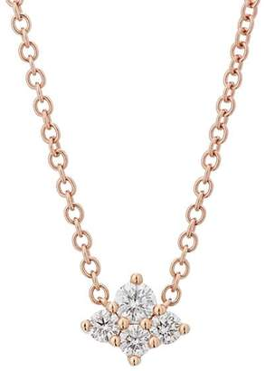 Sara Weinstock Women's Diamond Cluster Necklace - Rose Gold