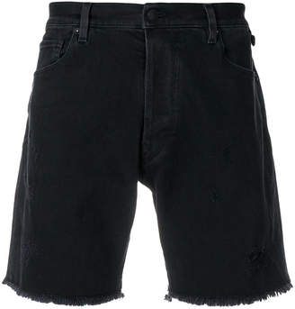 Zadig & Voltaire distressed style shorts
