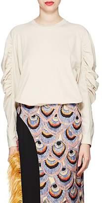 Dries Van Noten Women's Cotton Puff-Sleeve Sweatshirt