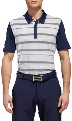 adidas GOLF Ultimate Stripe Regular Fit Polo Shirt