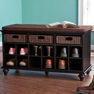 Co Darby Home 21.75 Traditional 6 Pair Shoe Storage Bench
