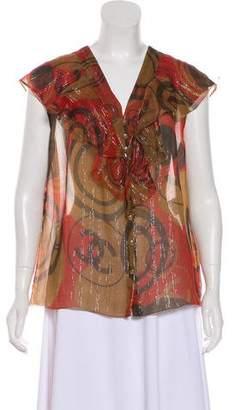 Chanel Metallic Silk Top w/ Tags