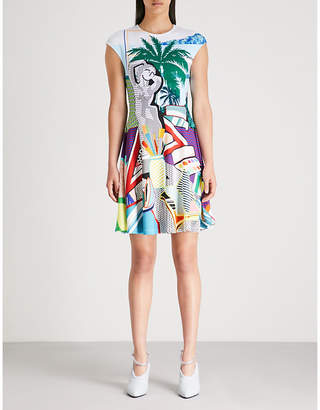 Mary Katrantzou Pop art-print crepe dress