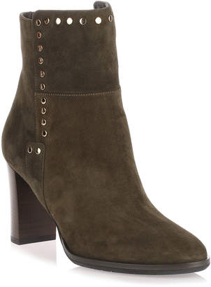 Jimmy Choo Harlow army green studded bootie