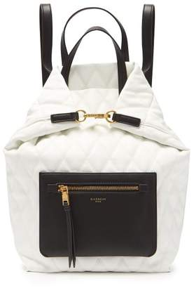 Givenchy Duo Convertible Quilted Backpack - Womens - White