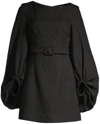 Rebecca Vallance Greta Long-Sleeve Mini A-Line Dress