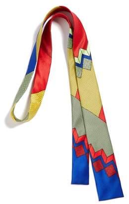 MEMPHIS GROUP MEMPHIS Milano Red/Blue Print Silk Tie