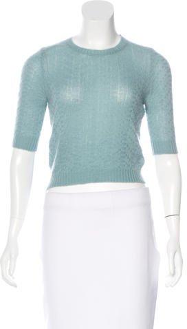 MarniMarni Cashmere Cropped Sweater