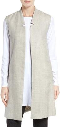 Women's Eileen Fisher Undyed Alpaca & Linen Vest $378 thestylecure.com