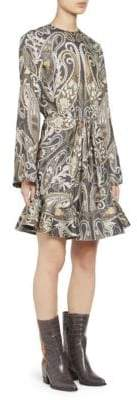 Chloé Placed Paisley Silk Lurex Dress