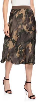 ATM Anthony Thomas Melillo Camo-Print Silk Skirt