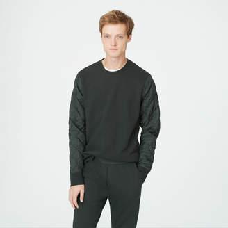 Club Monaco Quilted Sleeve Sweatshirt