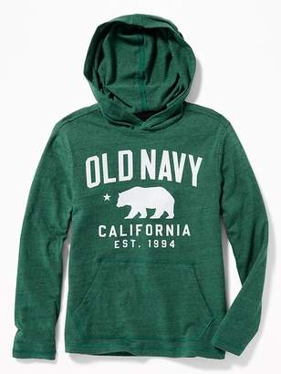 Old Navy Logo-Graphic Pullover Tee Hoodie for Boys
