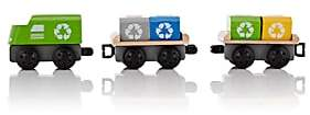 Plan Toys WOODEN RECYCLING TRAIN