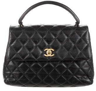 Chanel Vintage Quilted Top Handle Bag $1,895 thestylecure.com