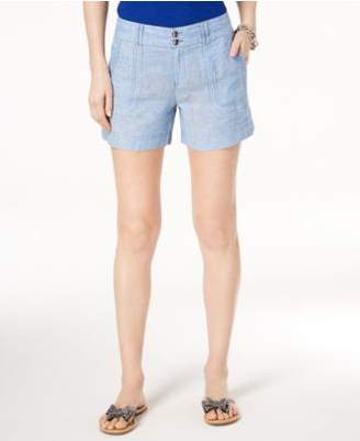 INC International Concepts I.N.C. Linen Curvy-Fit Shorts, Created for Macy's