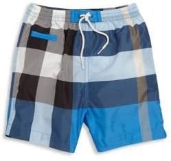 Baby's & Toddler Boy's Check Swim Trunks