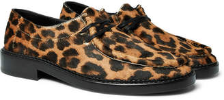 Saint Laurent Thibault Leopard-Print Calf Hair Derby Shoes