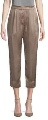Brunello Cucinelli Satin Crop Pants