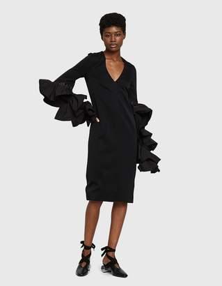 Ellery Molotov V-neck Frill Dress