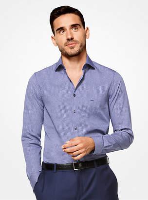 Michael Kors Slim-Fit Diamond Cotton Shirt