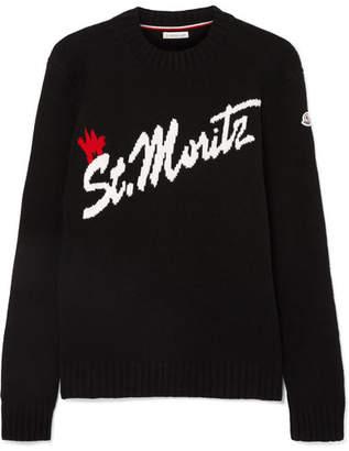 Moncler St. Moritz Intarsia Wool-blend Sweater