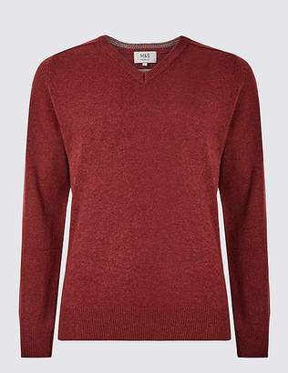 Marks and Spencer Pure Extra Fine Lambswool V-Neck Jumper