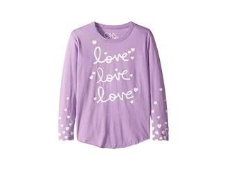 Chaser Kids Super Soft Love Love Love Print Long Sleeve Tee (Little Kids/Big Kids)