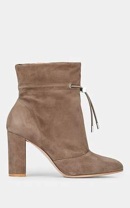 Gianvito Rossi Women's Maeve Suede Ankle Boots - Beige, Tan