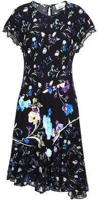 3.1 Phillip Lim Floral-Print Silk Crepe De Chine And Crinkled Chiffon Dress