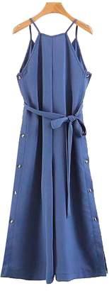 Goodnight Macaroon 'Perla' Shoulder Strap Waist Tied Sleeveless Jumpsuit (2 Colors)