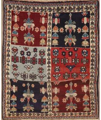 Rugsource Vintage Tribal Geometric Qashqai Persian Design Multi Area Rug Handmade Oriental Kitchen Carpet 3 X 3 (3' 1'' X 2' 6'') Rugsource