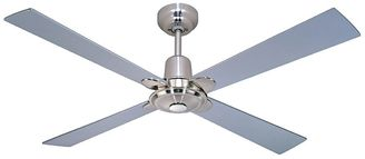 Four Seasons by Martec Alpha 4-Blade Ceiling Fan with Remote Control, Silver
