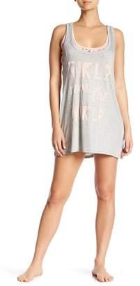 Couture Curvy Girls Run the World Lace Underlay Sleep Tank Dress