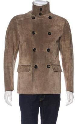 Lanvin Double-Breasted Suede Sport Coat