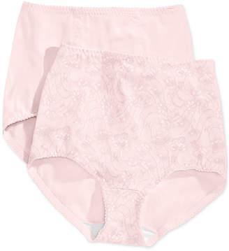 Bali Women Light Tummy-Control Cotton 2-Pack Brief Underwear X037