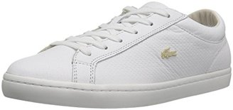 Lacoste Women's Straightset 316 3 Caw Wht Fashion Sneaker $108.17 thestylecure.com
