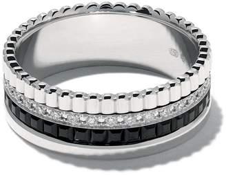 Boucheron 18kt white gold Diamond Quatre Black small ring