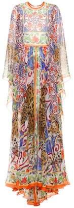 Dolce & Gabbana Printed silk maxi dress